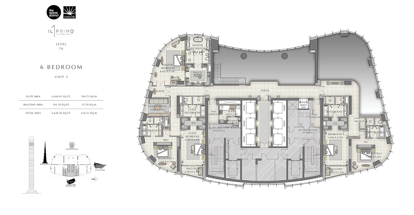 Floor Plan - Emaar IL Primo Apartments